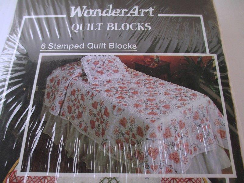 Wonderart Quilt Blocks Unopened Pack Of 6 Cross My Hearts