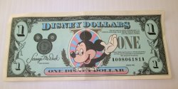 Disney Dollar, 1990 , A00806181A, Mickey Tinkerbell Castle