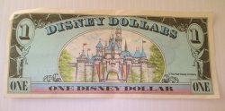 '.Disney Dollar, 1990 Disneyland.'