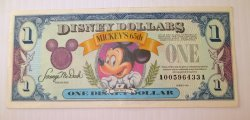 Disney Dollar, 1993 , A00596433A, Mickey's 65th Birthday