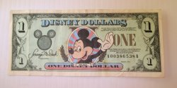 Disney Dollar, 1998 , A00386538A, Mickey Tinkerbell Castle