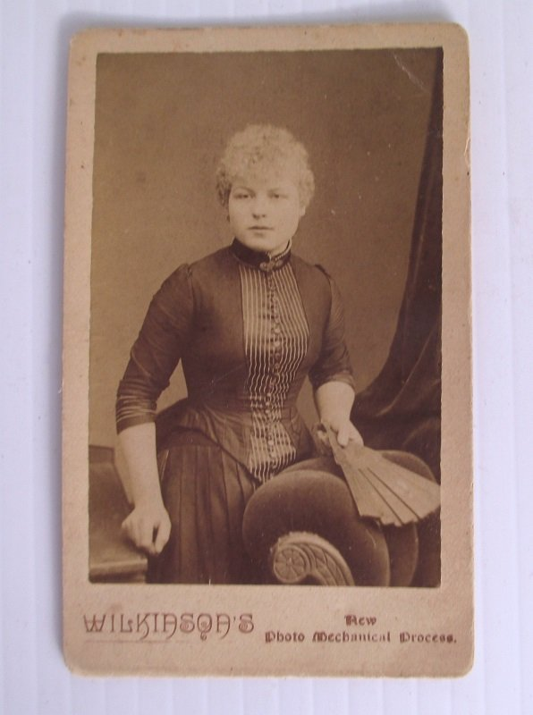 W.T. Wilkinson New Photo Mechanical Process features an unknown woman. Location is the Huddersfield, Halifax, Sheffield, and Birmingham England area.