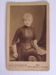 Antique Wilkinson Photo, Unknown Woman, U.K. England Area