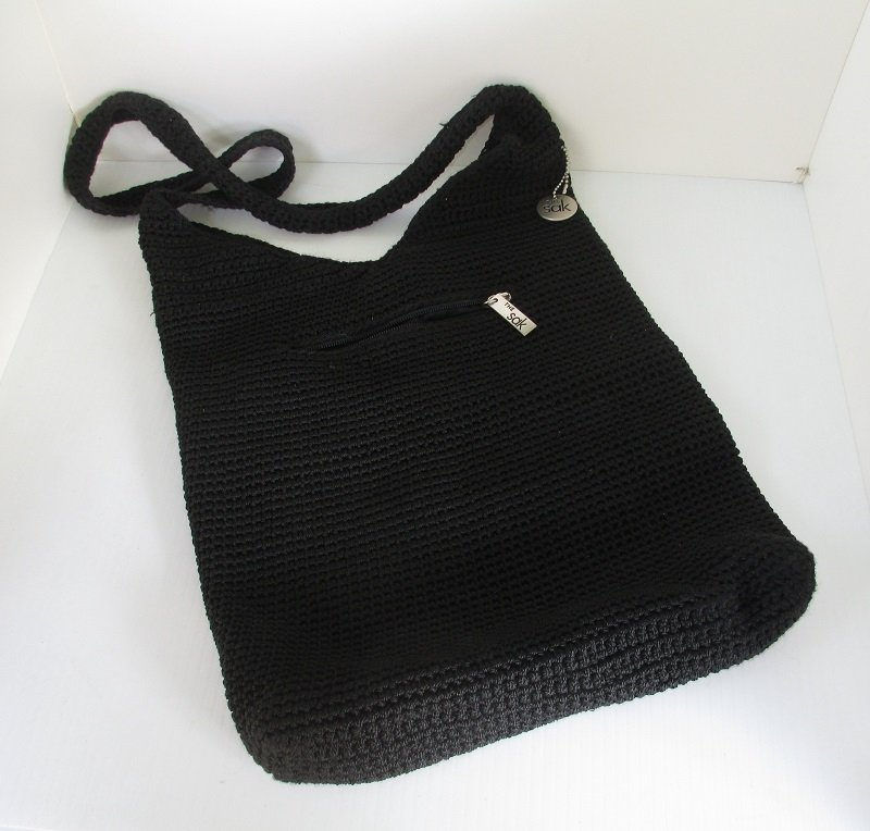 The Sak Bags Crochet : Crocheted shoulder bag purse from The SAK. Black in color measuring ...