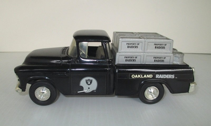 Oakland Raiders Ertl 1955 Chevy Pickup Truck Coin Bank