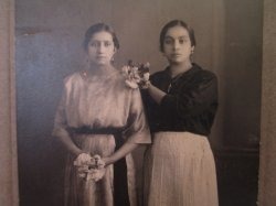 Antique Photo of 2 Hispanic Women, possibly named Zendejas