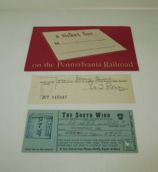 Pennsylvania Railroad 1943 Tickets, The South Wind Train