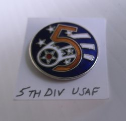1 United States Air Force 5th Division Insignia Pin