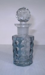 Two's Company Blue Dimpled Perfume Bottle, Empty