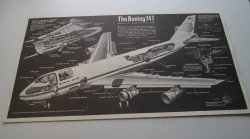 Pan Am Boeing 747 Cutaway Diagram Poster, Popular Mechanics
