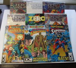 Zero Hour, Lot of 9 DC Comics, Crisis in Time in wrappers