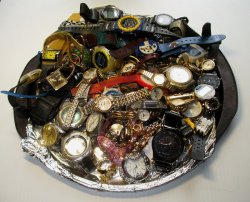 Non Working Watches, 83 pcs for repair or parts