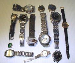 Non Working Name Brand Watches, 13 pcs, Klein Jordache LV