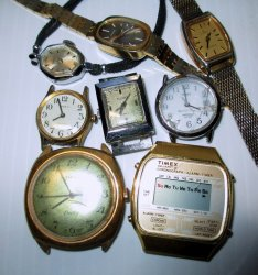 Non Working Timex Watches, Qty of 8 for parts or repair