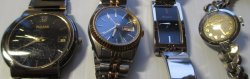 Non Working Watches, 2 Pulsar and 2 Bulova 10kGF