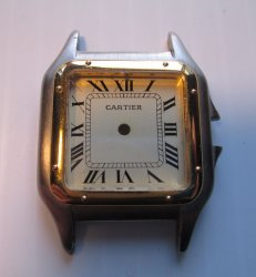 Dial and Case Only for Cartier Wrist Watch