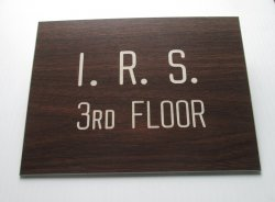 I.R.S. 3rd Floor, Actual Wall Sign
