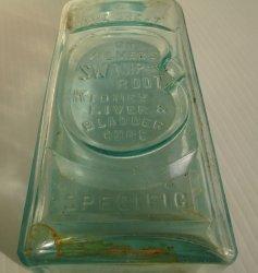 '.Dr. Kilmer's Cure bottle 1800s.'