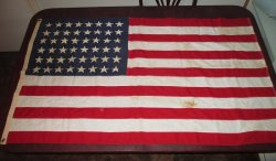 American Flag, 48 Stars, Pre 1940s WWII Era, Capitol 3x5