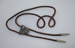 '.Sterling 925 Abalone Bolo Tie.'