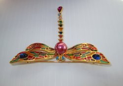 '.Joan Rivers Dragonfly Brooch.'