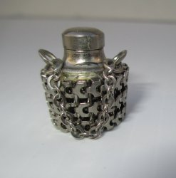 Vintage Memorial Urn, Poison Pill, or Perfume Jug Pendant #1