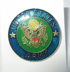 1 Official Seal of the U.S. Army Blue Insignia Pin