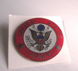 1 Official Seal of the U.S. Army, Large Red Insignia Pin