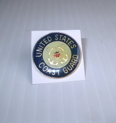 1 Coast Guard Seal Enameled Insignia Pin, U.S. CC