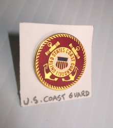 1 Coast Guard 1790 Enameled Insignia Pin, U.S. CC Seal