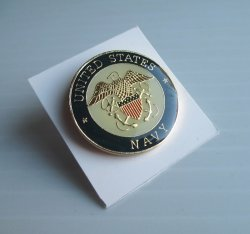 1 United States Navy Enameled Insignia Pin, USN