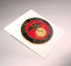 1 United States Marine Corps Small Blue and Red Insignia Pin