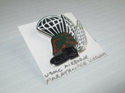 1 U.S. Marine Corps Airborne Paratrooper Pin, Vietnam era