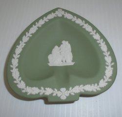 Wedgwood Jasperware Spade Trinket Dish, Sage Green, 1970s