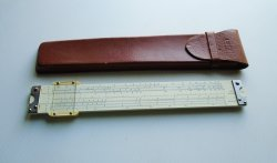 Lutz Slide Rule 102 S with Original Leather Case