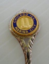Chicago IL Decorative Souvenir Spoon, Silver Tone