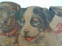 '.Antique Puppy Plaque Key Holde.'