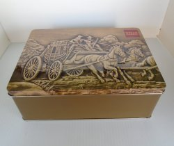 '.Wells Fargo Large Tin Box.'