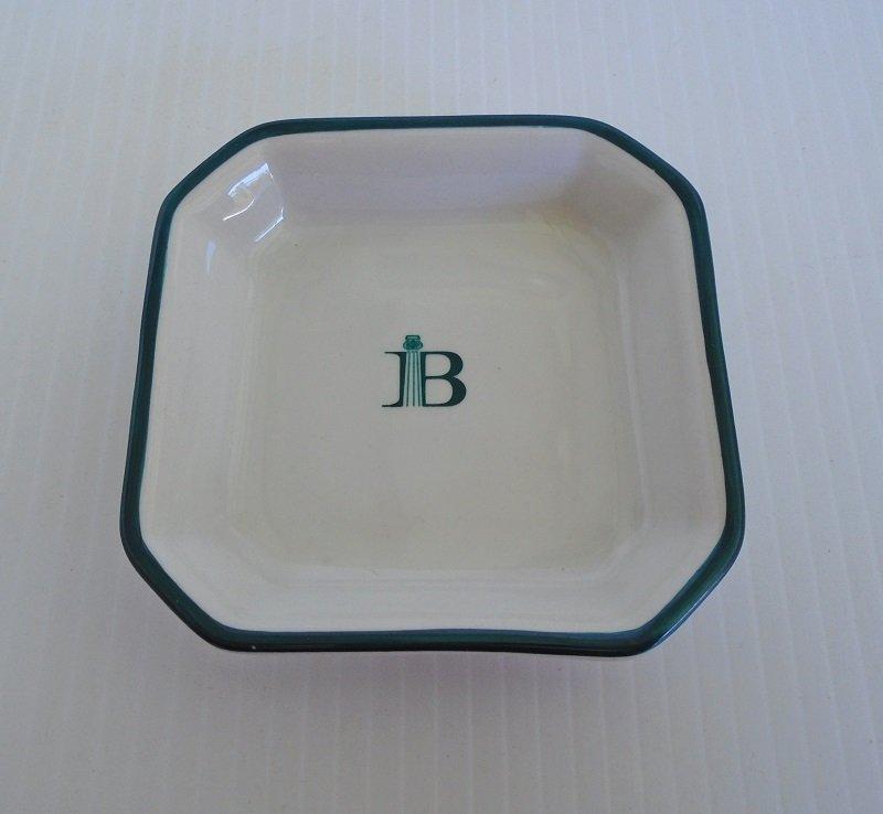 Three inch square dish marked