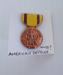1 American Defense Insignia DUI Pin, Possibly WWII