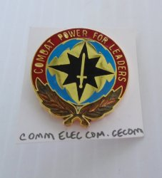 1 Communications Electronics Command CECOM Insignia Pin