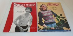 Columbia, Minerva Style Books, 2 from 1940s, 1st Editions