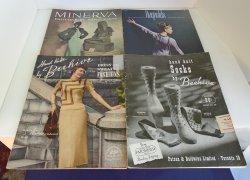 Vintage Minerva, Reynolds, Beehive, 4 Knit Books, 1940s