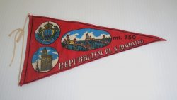 Repubblica di San Marino Italy Banner Pennant Flag 1950s-60s
