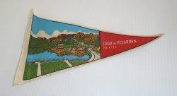 Lago di Misurina, Dolomiti Italy Pennant Flag, 1950s - 1960s