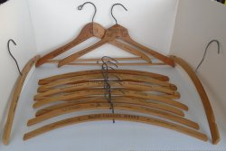 Vintage Wood Coat Hangers, 11 Los Angeles Area, 1930s-1950s