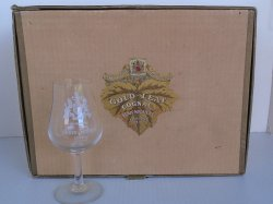 Gold Leaf Cognac Denis Mounie 10 Vintage Glasses From France