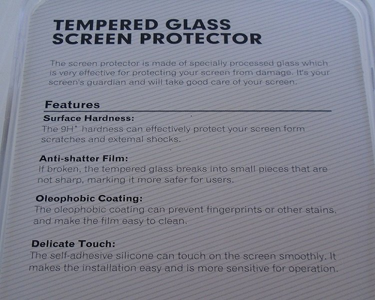 Tempered glass screen protector for the large size Iphone 6G. Quantity of 2. Never used. Still in original store packaging.