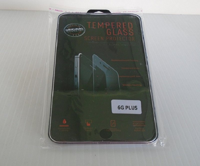Iphone 6G Plus Tempered Glass Screen Protector, QTY of 2