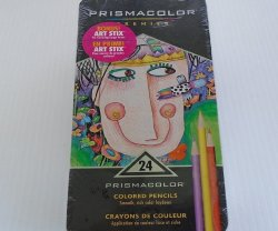Prismacolor Artist Quality 24 Color Pencil Set New Unopened